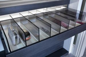 Walk-in wardrobes unique glass drawers