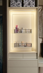 Walk-in wardrobes hidden storage